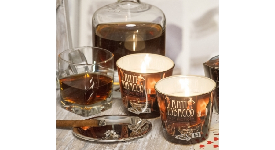 New. Candles of Anti Tobacco deep emotions in scented candles.